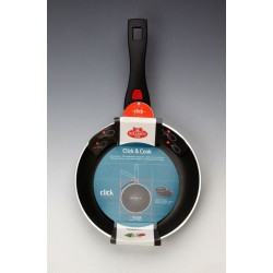 Zestaw patelni wraz ze szklanymi pokrywami Ballarini Click&Cook (20 cm, 24 cm, 28 cm)