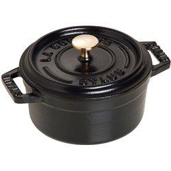 Mini garnek żeliwny okrągły Staub - czarny
