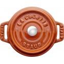 Mini garnek żeliwny okrągły Staub - cynamonowy