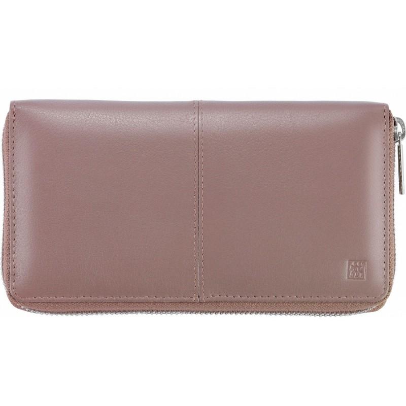 Skórzany damski portfel Zwilling - fiołkowy