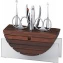 Zestaw do manicure Twinox® Spa, 7 el., drewno i szkło