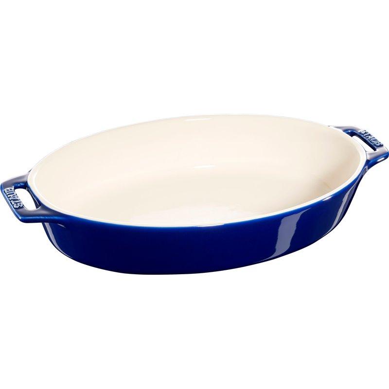 Owalny półmisek ceramiczny Staub - niebieski