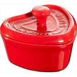 Staub Mini Cocotte Serce - czerwony