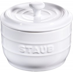 Pojemnik na sól Staub - biały