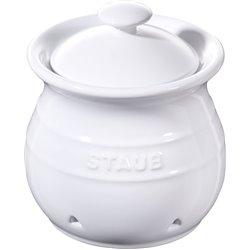Pojemnik do przechowywania czosnku Staub - biały