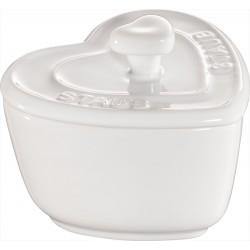 Staub Mini Cocotte Serce, 2 szt. - biały