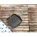 Kwadratowa patelnia żeliwna grillowa Staub