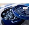 Mini garnek żeliwny okrągły Staub - niebieski