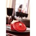 Mini garnek żeliwny okrągły Staub - czerwony