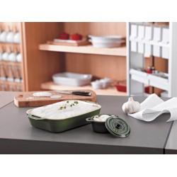 Prostokątny półmisek ceramiczny Staub - zielony