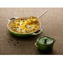 Okrągły półmisek ceramiczny do ciast Staub - zielony