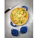 Okrągły półmisek ceramiczny do ciast Staub - niebieski