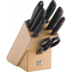 Zestaw 5 noży w drewnianym bloku Twin® Point