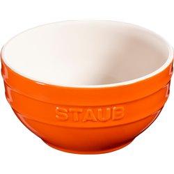 Średnia miska okrągła Staub - pomarańczowa