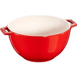 Mała miska z dwoma uchwytami Staub - czerwona