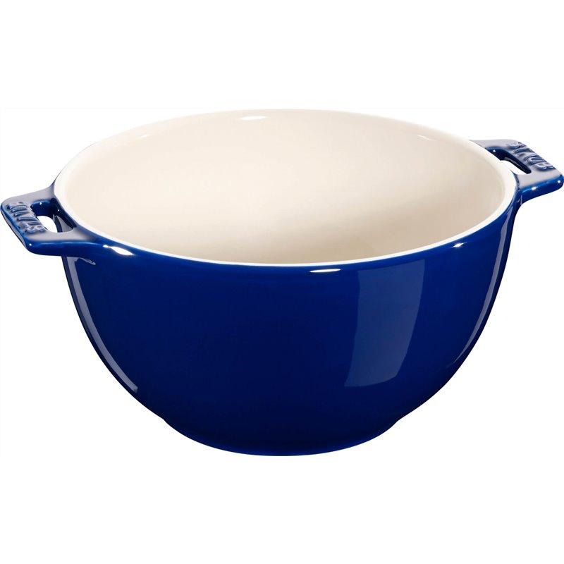 Mała miska z dwoma uchwytami Staub - niebieska