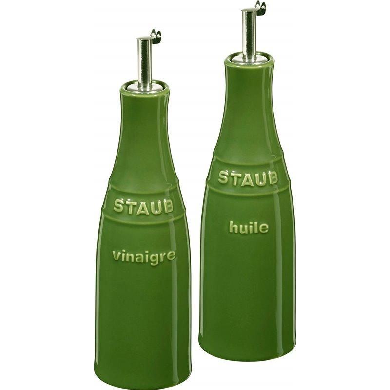 Zestaw do oliwy i octu Staub - zielony