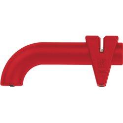 Stalowo-Ceramiczna Ostrzałka Krążkowa Zwilling Twin Sharp - czerwona