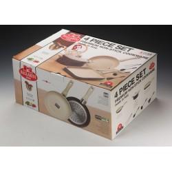 Zestaw naczyń ceramicznych Ballarini CORTINA WHITESTONE