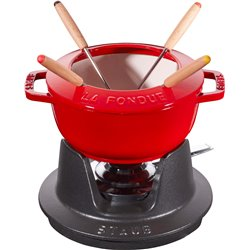 Naczynie do fondue Staub - 16 cm, czerwony