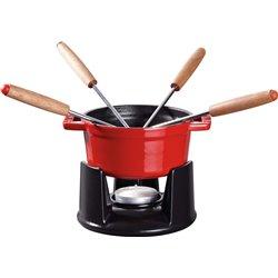 Mini zestaw do fondue Staub - czerwony