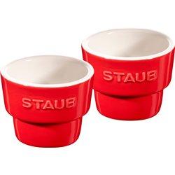 Kieliszek do jajka Staub, 2 szt. - czerwony
