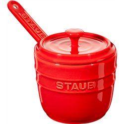 Pojemnik na sól z łyżeczką Staub - czerwony