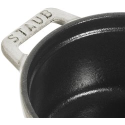 Mini garnek żeliwny okrągły Staub - truflowy