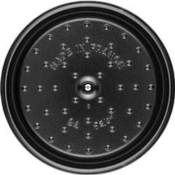 Garnek żeliwny okrągły Staub - truflowy