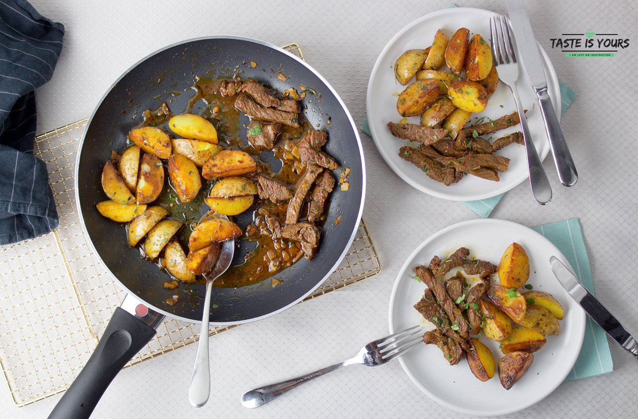 Stek wołowy z masłem czosnkowym