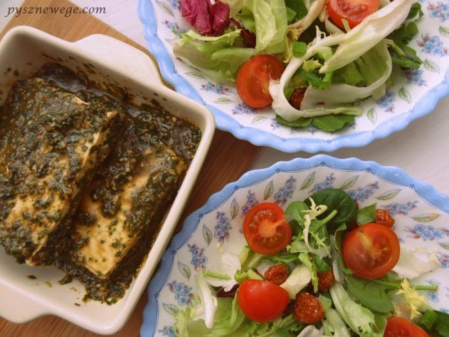 Grillowane tofu z sałatką