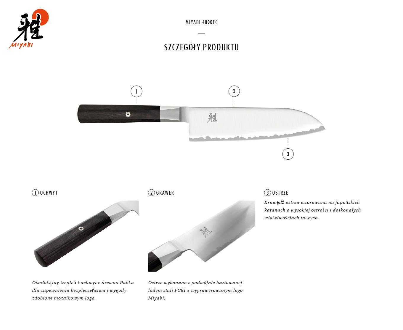Dlaczego warto kupić nóż Santoku Miyabi 4000FC?