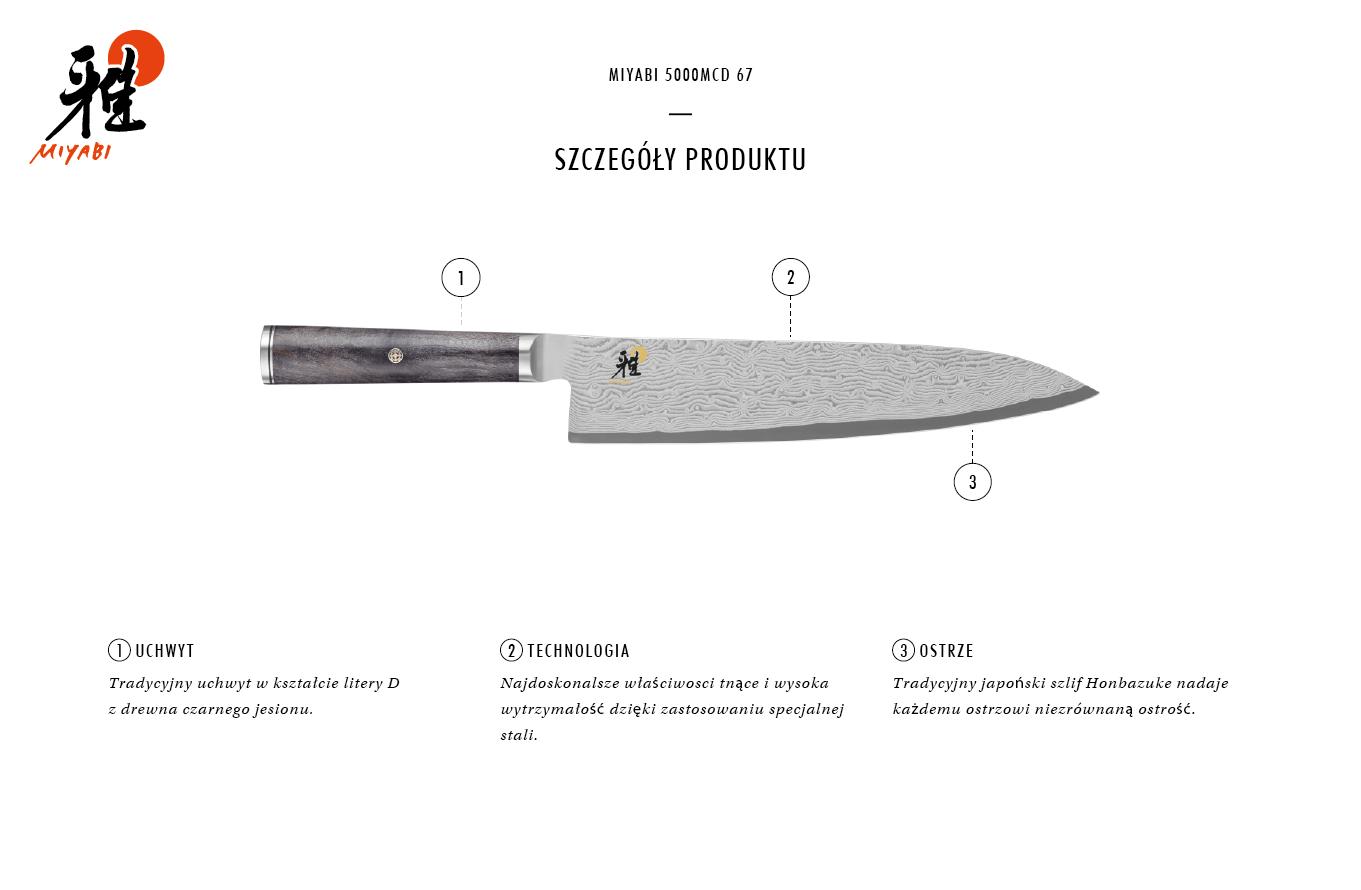 Dlaczego warto kupić nóż Gyutoh Miyabi 5000MCD 67?