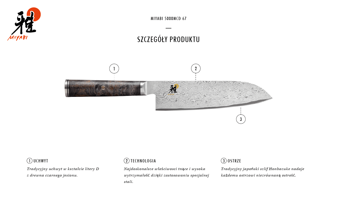Dlaczego warto kupić nóż Santoku Miyabi 5000MCD 67?
