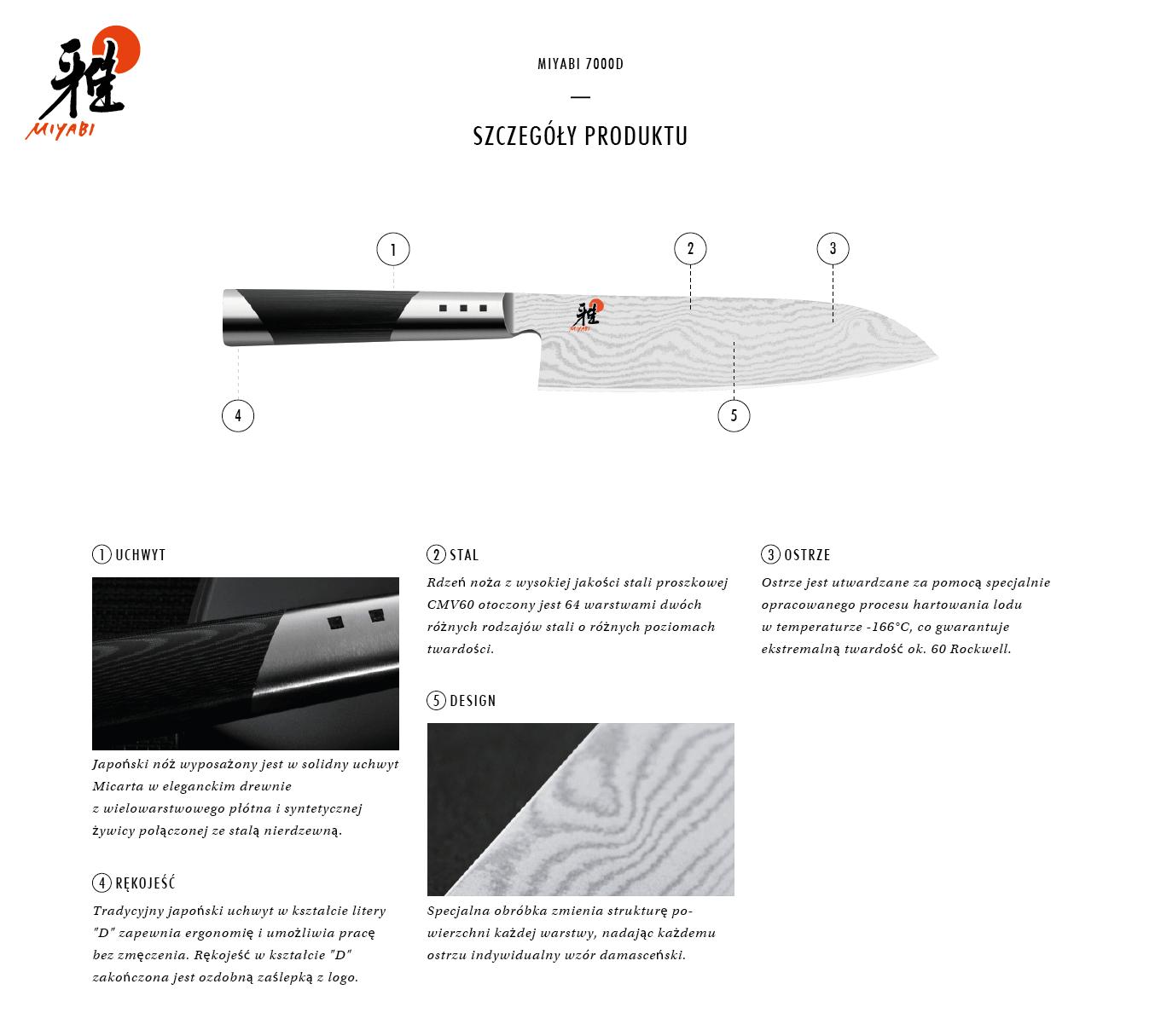 Dlaczego warto kupić nóż Santoku Miyabi 7000D?
