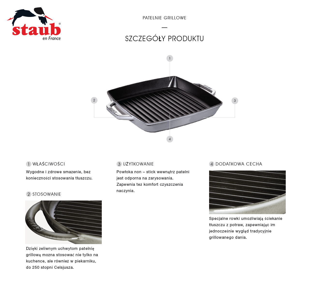 Dlaczego warto kupić kwadratową patelnię grillową żeliwną Staub z dwoma uchwytami?