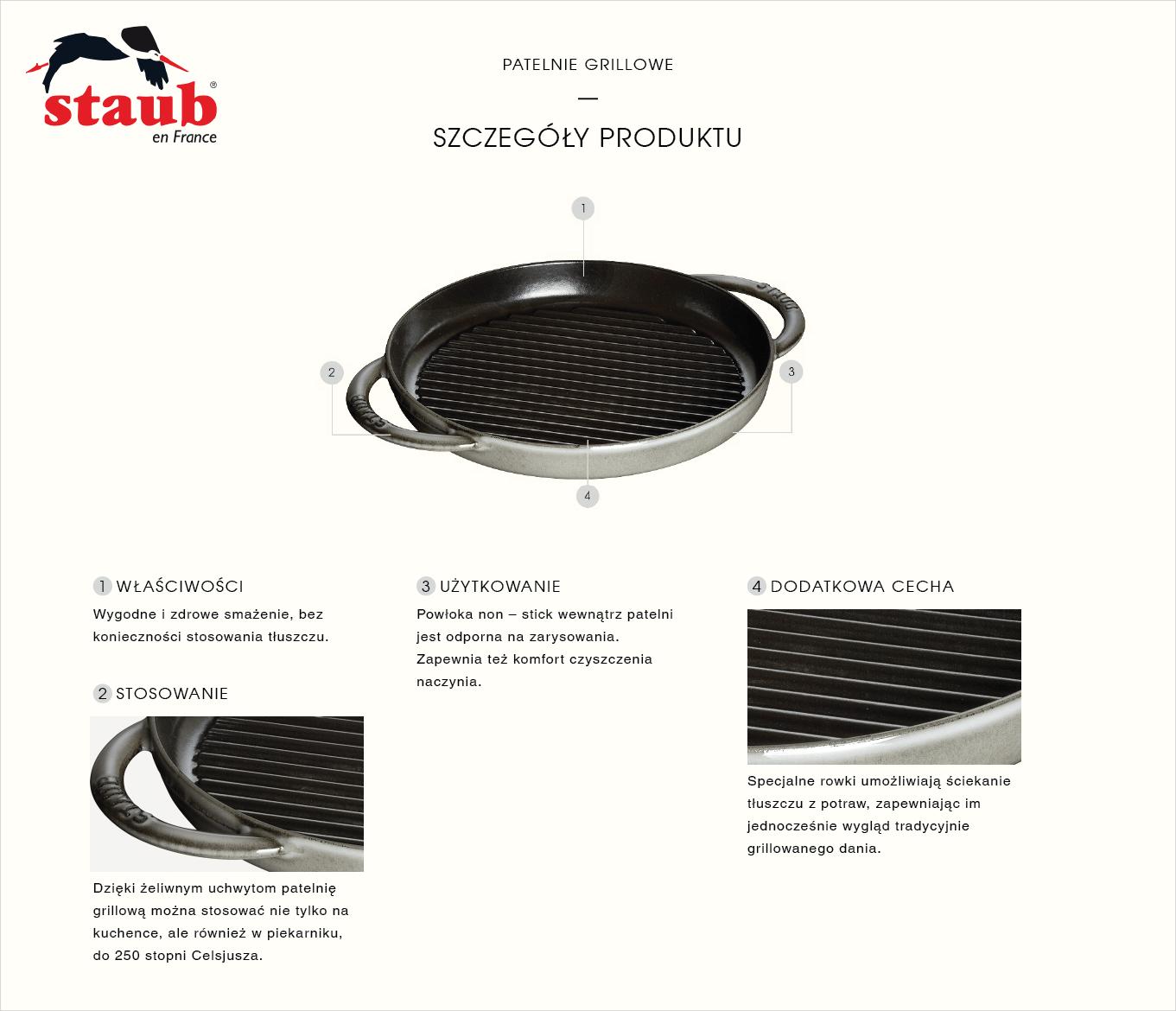 Dlaczego warto kupić okrągłą patelnię żeliwną grillową Staub?