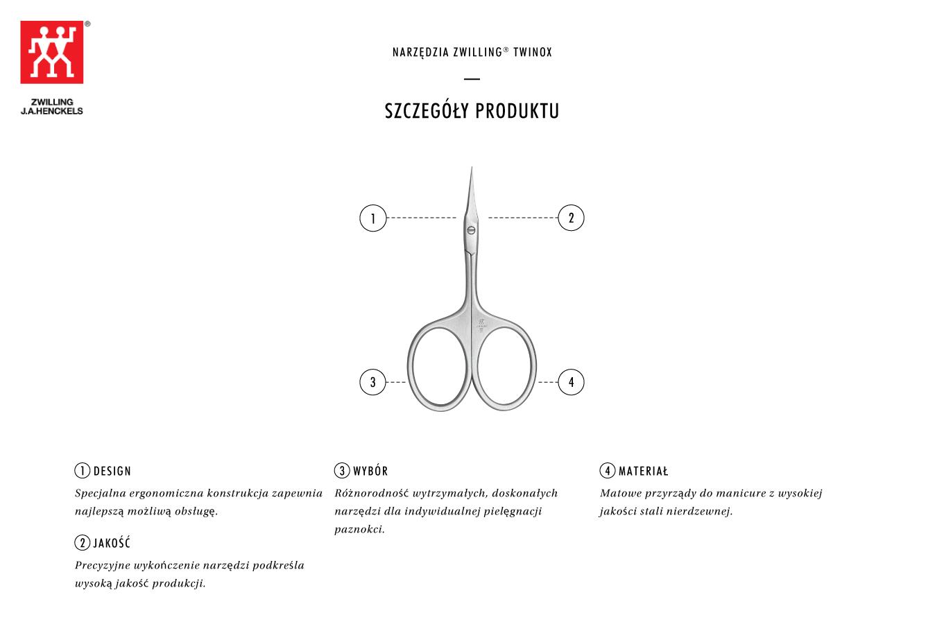 Dlaczego warto kupić satynowe nożyczki do skórek z ostrym końcem Twinox®?