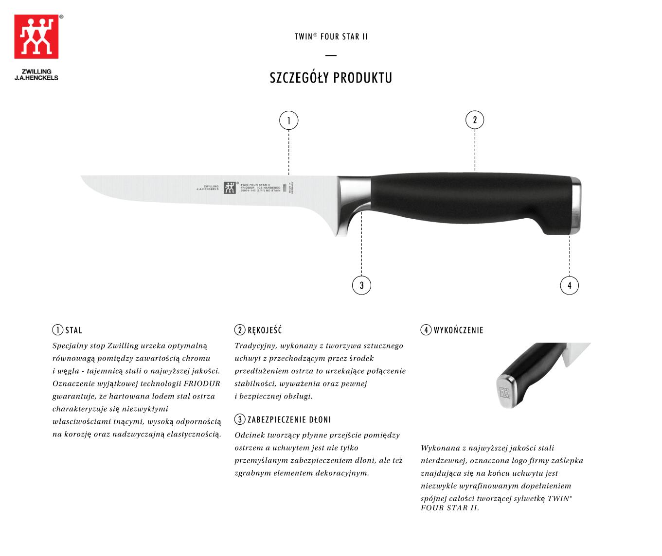 Dlaczego warto kupić nóż do trybowania Twin® Four Star II?