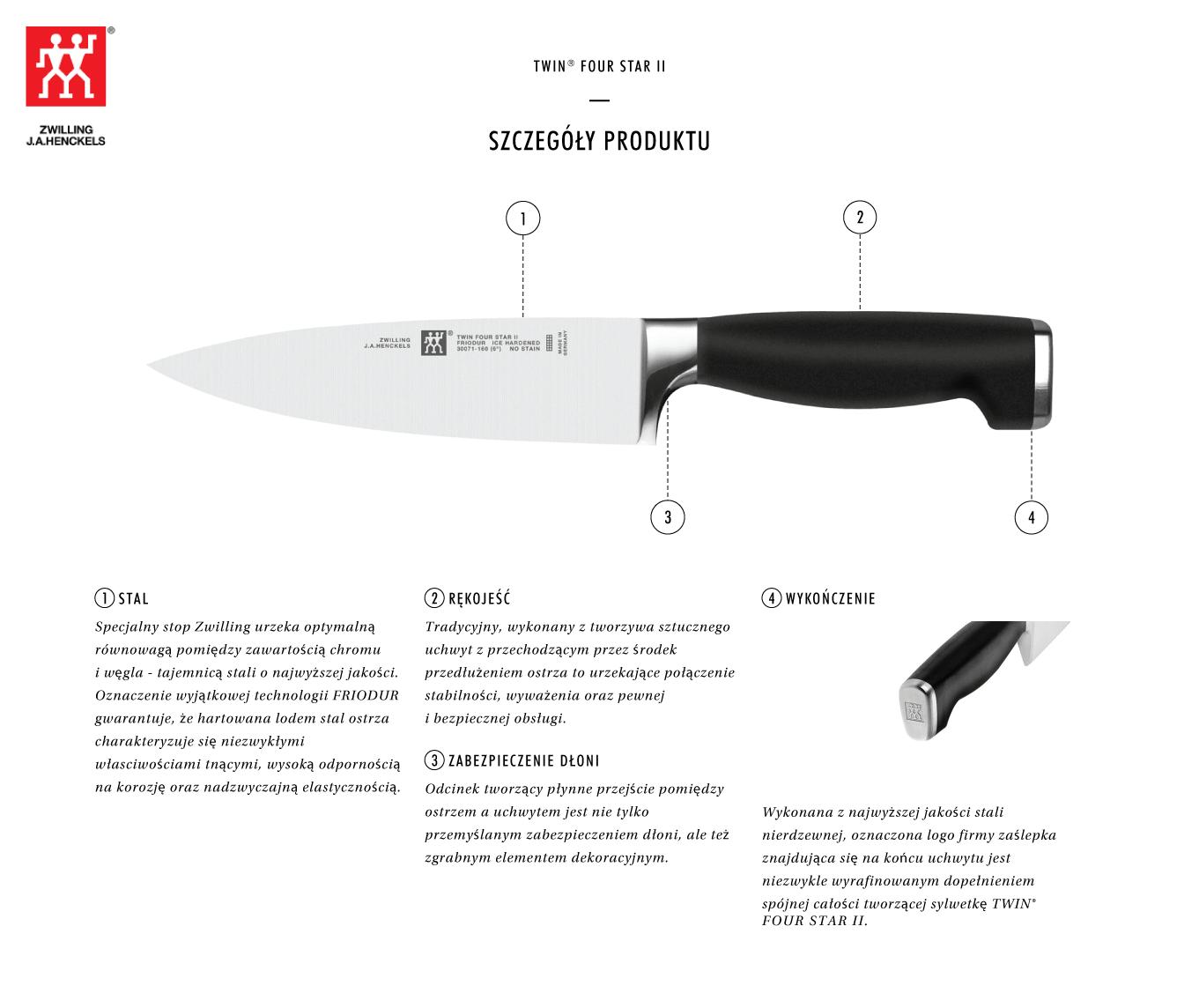 Dlaczego warto kupić nóż szefa kuchni Twin® Four Star II?