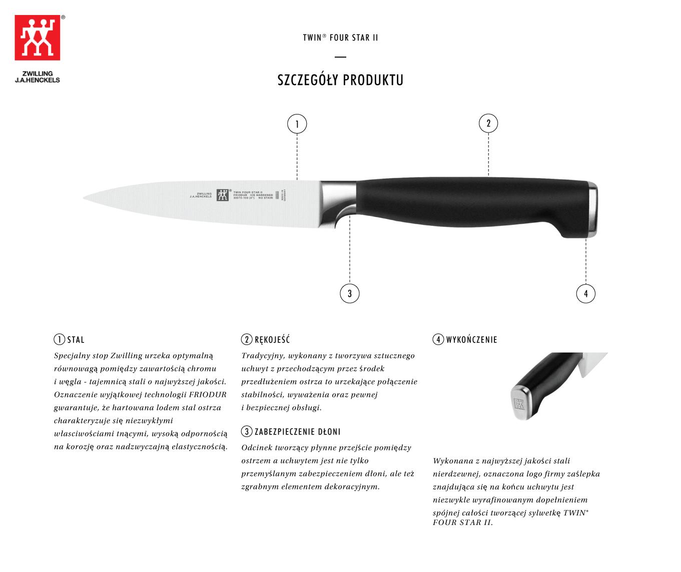 Dlaczego warto kupić nóż do obierania warzyw Twin® Four Star II?