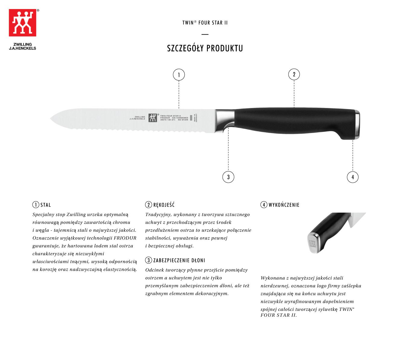 Dlaczego warto kupić nóż uniwersalny Twin® Four Star II?
