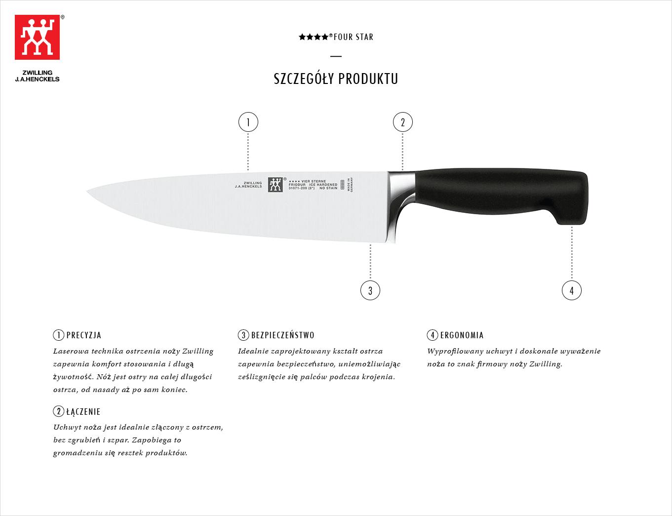 Dlaczego warto kupić zestaw 3 noży Zwilling ★★★★ ®FOUR STAR?