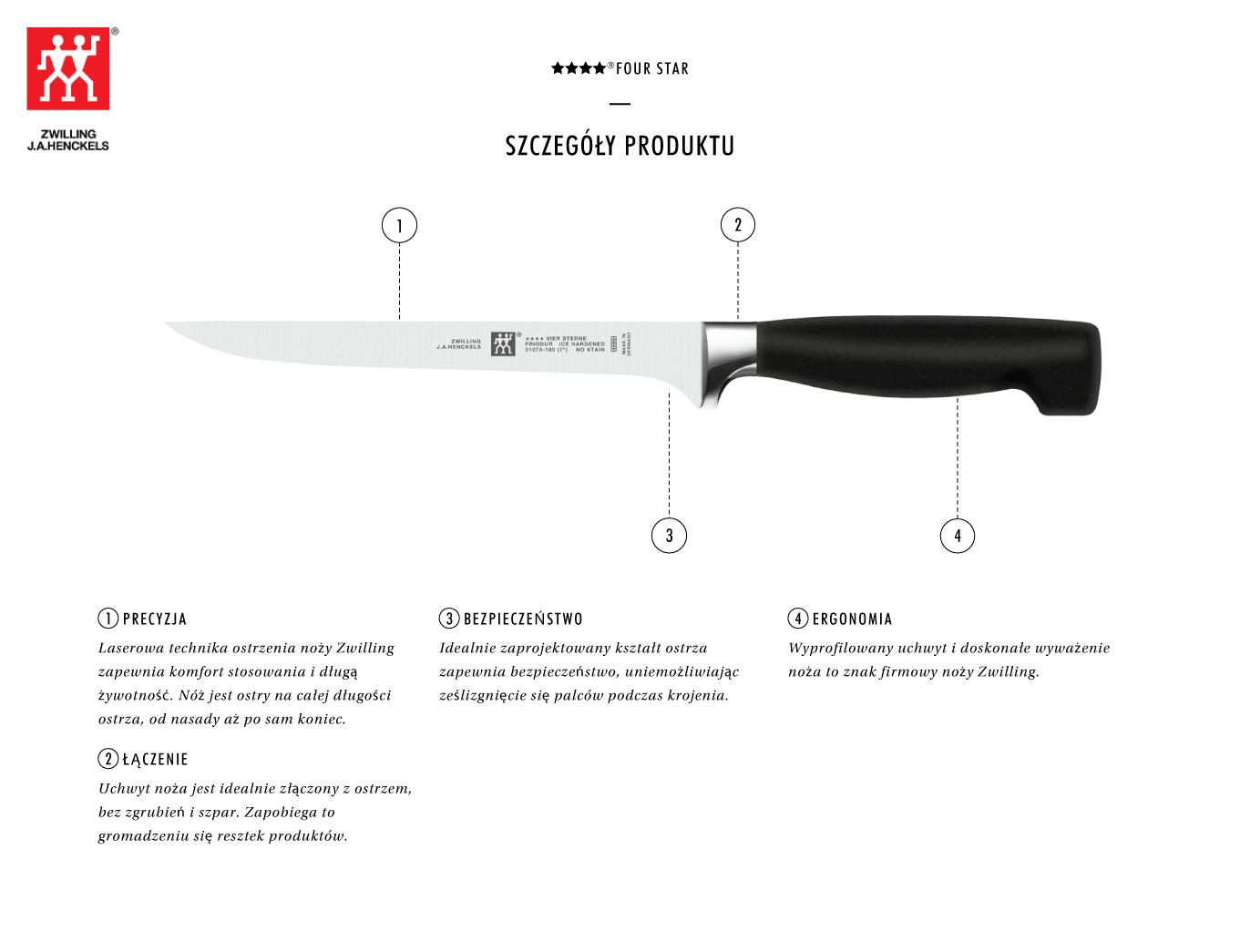 Dlaczego warto kupić nóż do filetowania Zwilling ★★★★ ®FOUR STAR?