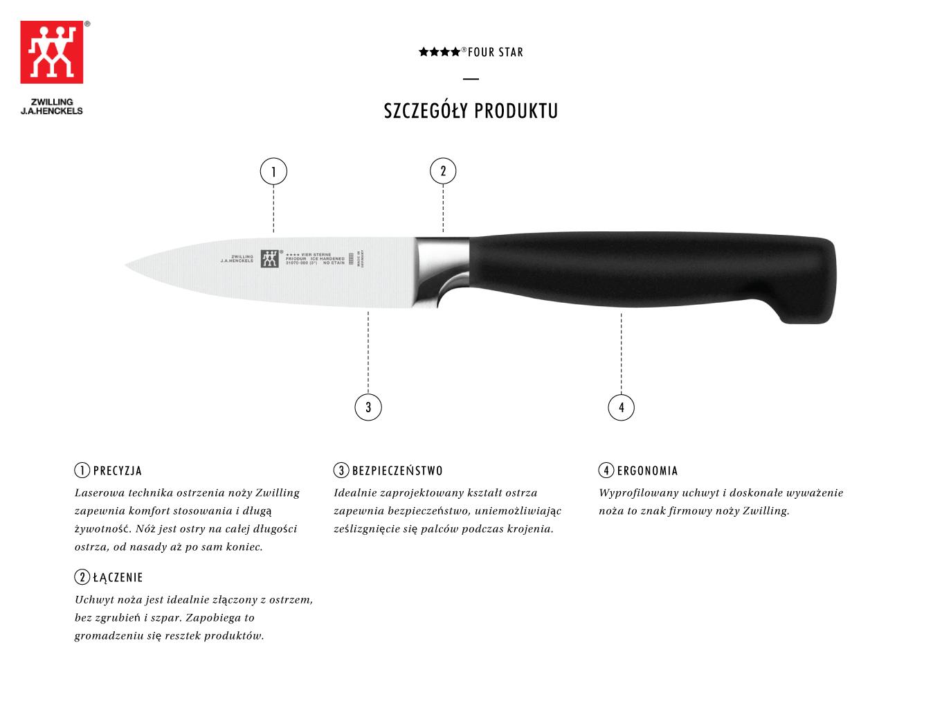 Dlaczego warto kupić nóż do warzyw i owoców Zwilling ???? ®FOUR STAR?
