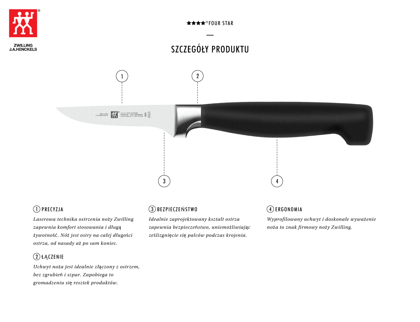 Dlaczego warto kupić nóż do obierania warzyw Zwilling ???? ®FOUR STAR?