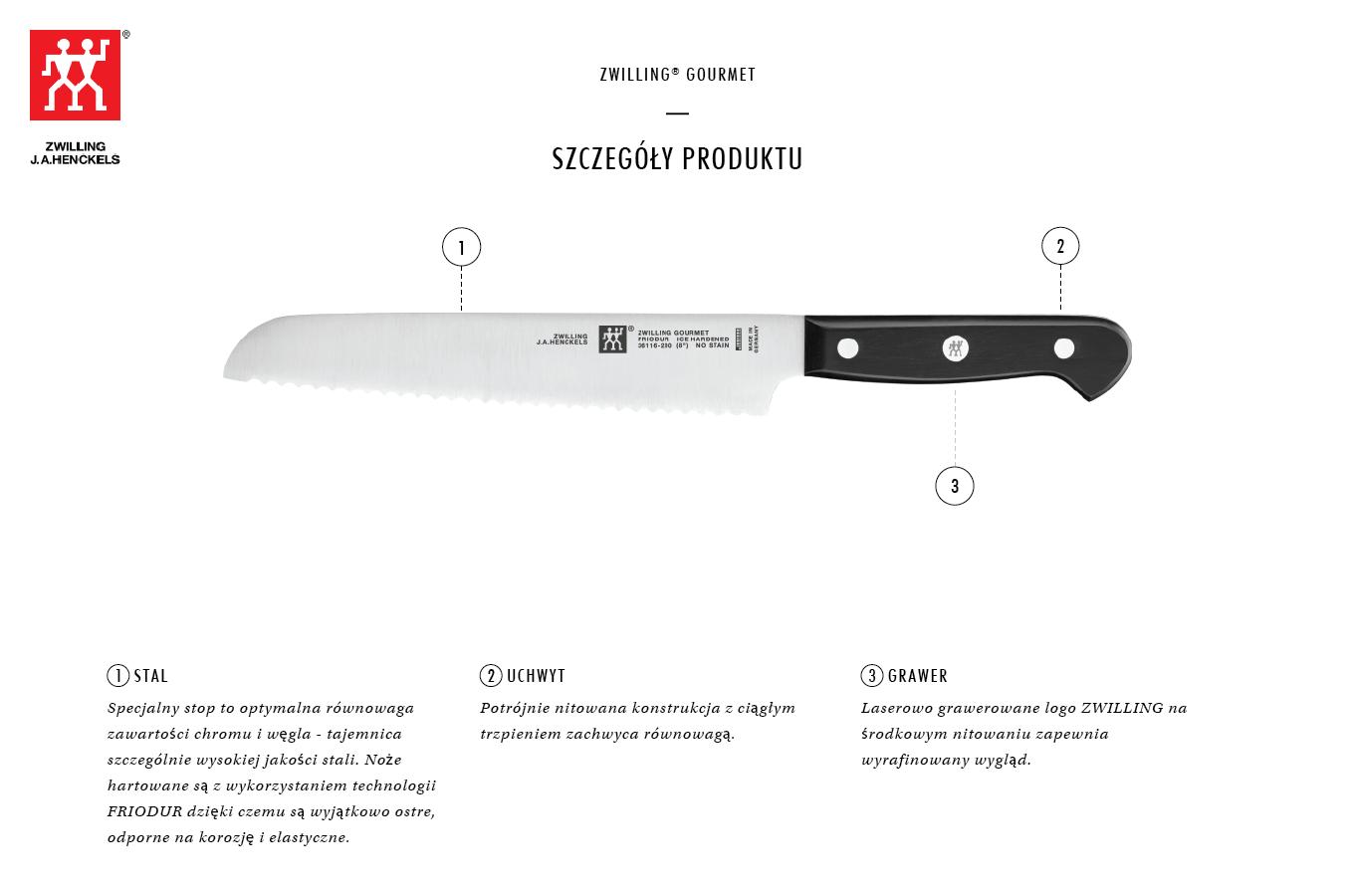 Dlaczego warto kupić nóż do pieczywa Zwilling® Gourmet?