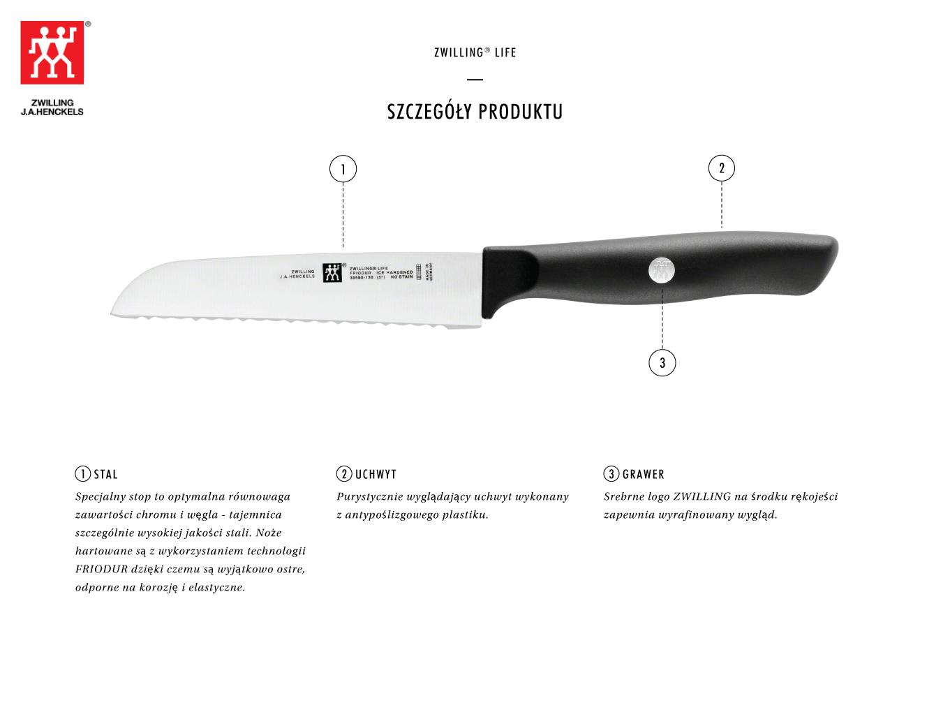 Dlaczego warto kupić nóż uniwersalny z ząbkami 15.1 Zwilling Life?