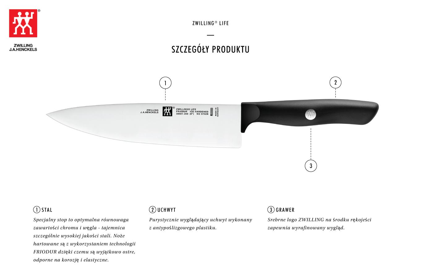 Dlaczego warto kupić zestaw 3 noży ZWILLING® Life?