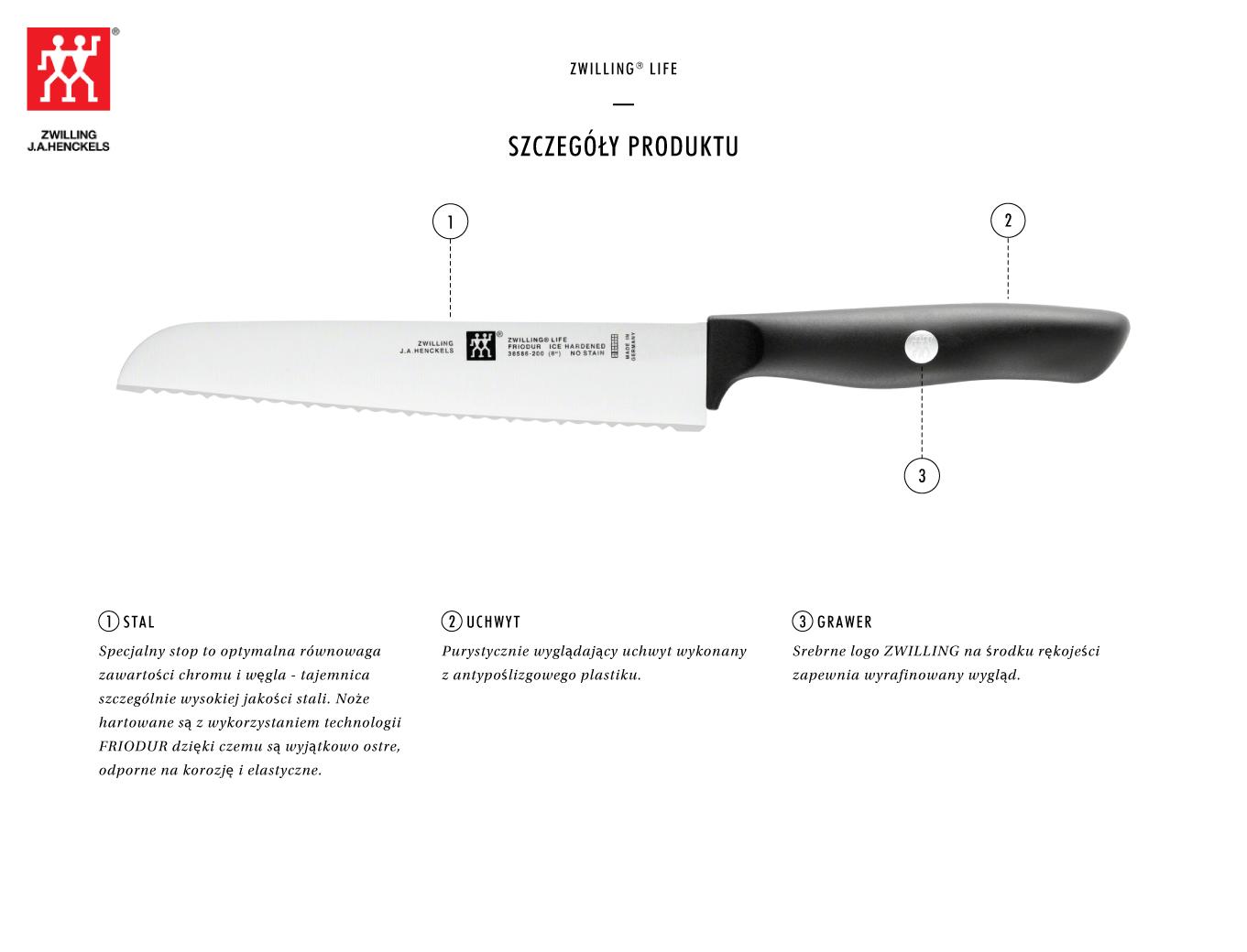 Dlaczego warto kupić nóż do pieczywa Zwilling Life?